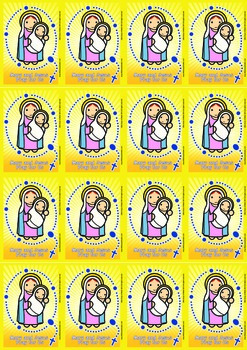 16 Rosary Flash Cards - Catholic
