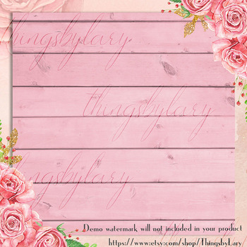 16 Rose Quartz Wood Texture Digital Papers Barn Wood Papers
