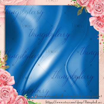 16 Royal Blue Luxury Silk Satin Cloth Texture Digital Papers