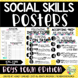 16 SOCIAL SKILLS POSTERS {5th-12th} Includes Checklist & O