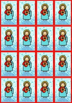 16 Sacred Heart Flash Cards - Catholic