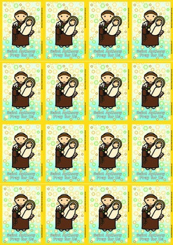 16 Saint Anthony Flash Cards - Catholic