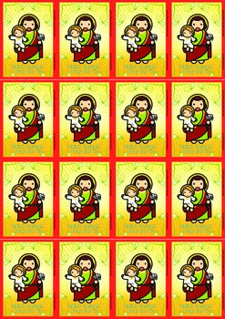 16 Saint Joseph Flash Cards - Catholic