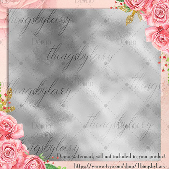 16 Seamless Silver Foil Digital Papers luxury foil printing