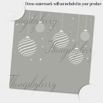 16 Seamless Silver Gray Neutral Christmas Digital Papers