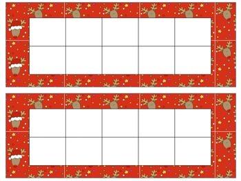 16 Seasonal Ten Frames