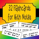 32 Sixteenth Note Rhythm Flashcards