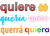 16 Spanish High-Frequency Verbs: Present Past Future Subjunctive, Emoji Posters