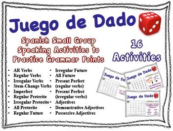 16 Spanish Small Group Speaking Activities (No Prep)