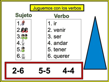 16 Spanish Verb Form Powerpoint Activities (Juguemos con los verbos)