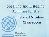 16 Speaking and Listening Activities for the Social Studie