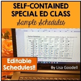 16 Special Ed EDITABLE Sample Schedules Self-Contained