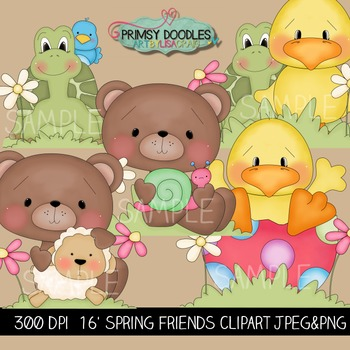 16-Spring Friends 1 Clipart Collection