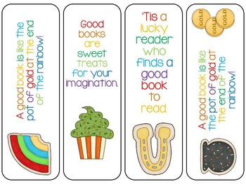 16 St. Patrick's Day Bookmarks