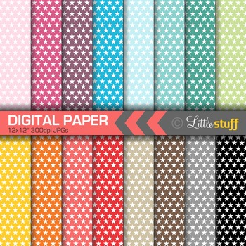 16 Star Digital Papers, Value Priced Stars Digital Background