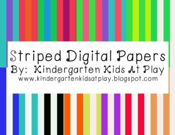 16 Striped Digital Paper Pack