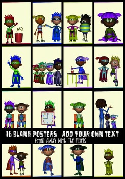 16 Superhero Class JPG Posters No Text- Make Class Rules or Expectations