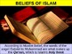 UNIT 3 LESSON 3. Teachings of Islam POWERPOINT
