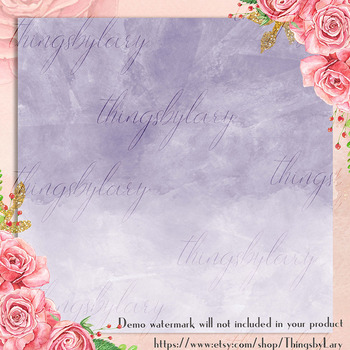 16 Ultra Violet Ombre Watercolor Texture Digital Papers