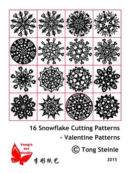 16 Valentine Snowflake Patterns