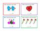 16 Valentine's Day Kindergarten Math One-Less Task Cards ELA 4pgs