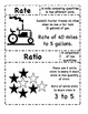 16 Vocabulary Cards for Ratio and Proportion for Math 6 Common Core Standards