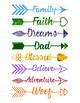 16 Watercolor Arrow Words Clipart, Arrow Clipart, Watercolor Clip Art, PNG