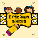 16 Writing Prompt Task Cards 3rd, 4th, 5th Grade