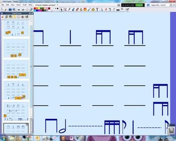 16 beat rhythm notation FlipChart