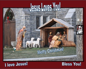 16 by 20 Merry Christmas I love Jesus Poster