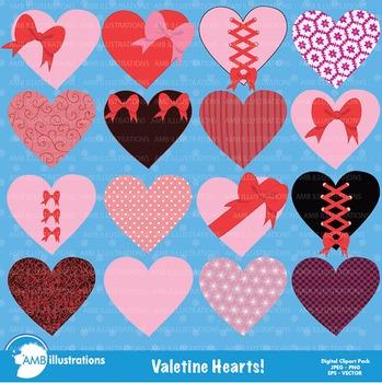 Clipart, Hearts Valentines Day Clip art, Hearts Clipart, AMB-321
