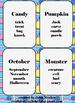 16 taboo cards for Halloween