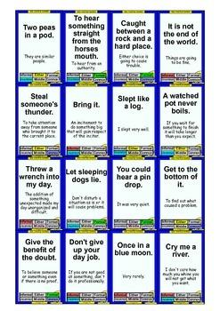 160 Idiom Cards