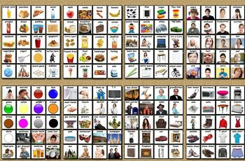 160 LOOSE Visual Communication Cards REAL PHOTOS  AUTISM, SPEECH, ADHD