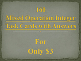 160 Mixed Operation Integer Task Cards Bundle