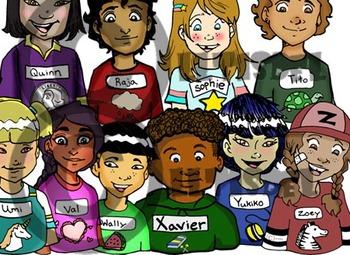 """150 Pc. BUNDLE: Initial """"Q-Z"""" Kindergarten Clip-Art! 80 BW, 80 Color"""