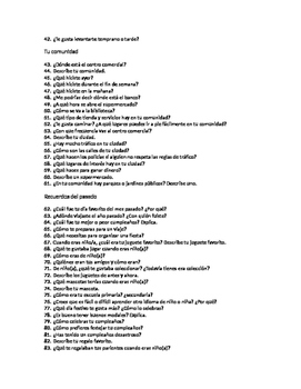 160 Spanish Questions