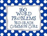 3rd Grade 160 Word Problems Math Problem Solving CCSS *All Standards*