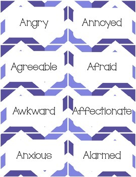 166 Feelings and Emotions Cards to Teach Prosody