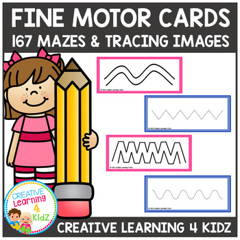 Fine Motor 167 Cards Tracing & Mazes