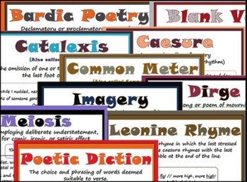 167 Poetry Term Posters with Definitions and Examples! (For all ages!)