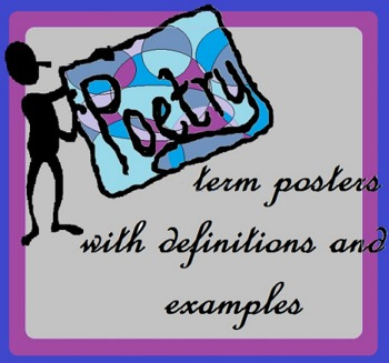 167 Poetry Term Posters with Definitions and Examples! (Fo