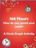 How students spend their 168 hours/week - a circle graph activity