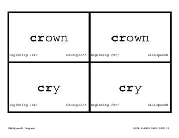 168 Written Articulation Cards S BLENDS (WORDS + PHRASES + SENTENCES)