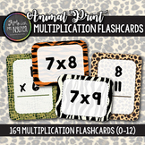 169 Safari Animal Print Multiplication Flashcards (0-12)