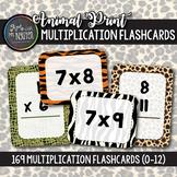 169 Safari Animal Print Multiplication Flashcards (0-12)