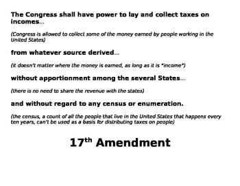 16th - 19th Amendment Breakdowns