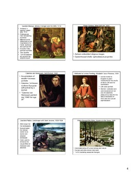 16th Century Northern Europe and Spain Art Notes (Reformation Age)