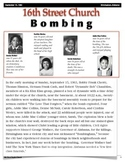 Forensics - 16th Street Baptist Church Bombing