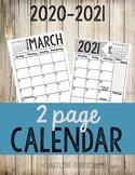 18-19 2-page Calendar